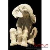 elephanteau assis en platre borome sculptures bo20