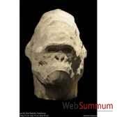 tete de gorille en platre borome sculptures gorille0