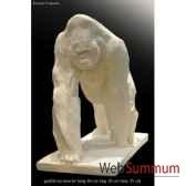 gorille en marche en platre borome sculptures gorillemarche