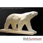 ours polaire en platre borome sculptures ourspolaire
