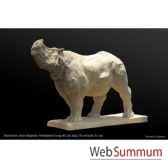 rhinoceros d asie en platre borome sculptures rhinoasie
