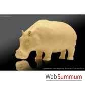 hippopotame en platre borome sculptures