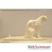 panthere assise en platre borome sculptures panthere