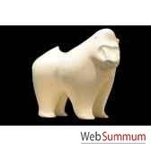 mandrilblanc en ceramique borome sculptures mandblc