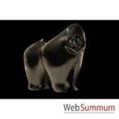 mandrilnoir en ceramique borome sculptures mandnoir
