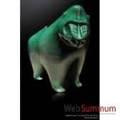 mandrilvert en ceramique borome sculptures mandvert