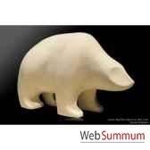 ourson blanc en ceramique borome sculptures