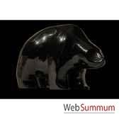 ourson noir en ceramique borome sculptures oursnoir