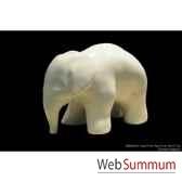 elephanteau blanc en ceramique borome sculptures minielepblc
