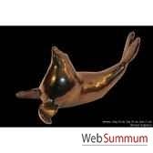 phoque noir en ceramique borome sculptures phoquenoir