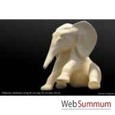 elephant dodoma blanc en ceramique borome sculptures elephantdodoma
