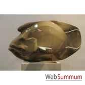 poisson napoleon taupe en ceramique borome sculptures napoleontaupe