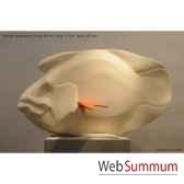 poisson napoleon blanc en ceramique borome sculptures napoleonbisc
