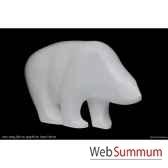 ours blanc en resine borome sculptures ourspole