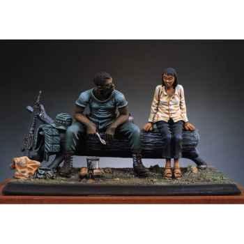 Figurine - Repas dans la jungle  Vietnam en 1970 - SG-S01