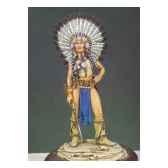 figurine kit a peindre guerrier sioux g 017