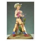 figurine kit a peindre cow girg 022