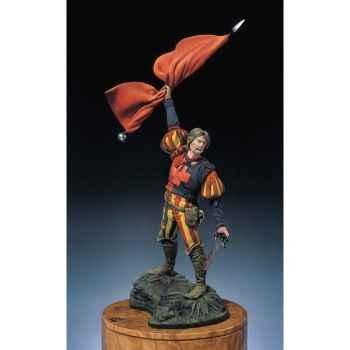 Figurine - Kit à peindre Lansquenet porte-étendard - S2-F9