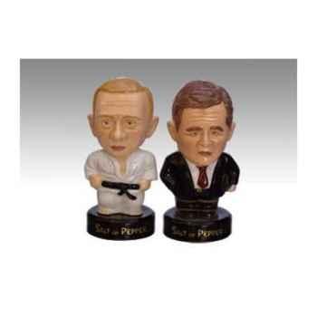 Figurine Saleron homme politique Bush et Putin - SP01