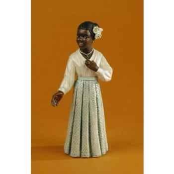 Figurine Jazz  La chanteuse en robe blanche - 3183