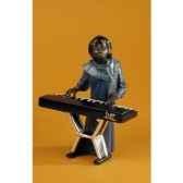figurine jazz la chanteuse au clavier 3175