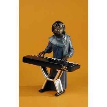 Figurine Jazz  La chanteuse au clavier - 3175