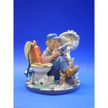 Figurine métier par Profisti -  Le plombier - PRO07