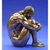 figurine body talk homme bronze man sitting wu71752
