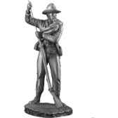 figurines etains capitaine d infanterie texas gs001