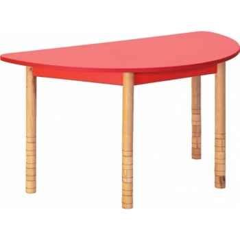 Table en couleurs demi-ronde vert Novum -4478963