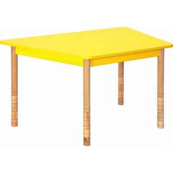 Table en couleurs trapèze jaune Novum -4478934