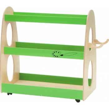 Meuble de rangement multi vert -arts plastiques Novum -4122103