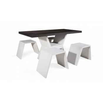 Table mod la table + les 4 bancs Blive -500028