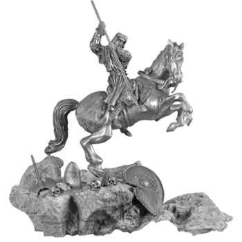 Figurines étains St Georges a cheval -MA065