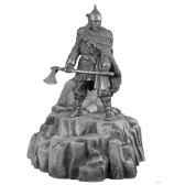 figurines etains chef de guerre viking avec tumulus et crane de mamouth ma070