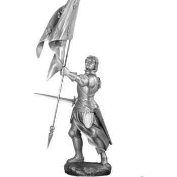 Figurines étains Jeanne au combat -MA048