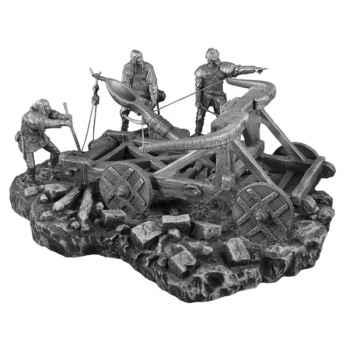 Figurines étains Machine de guerre avec personnages -VEMA