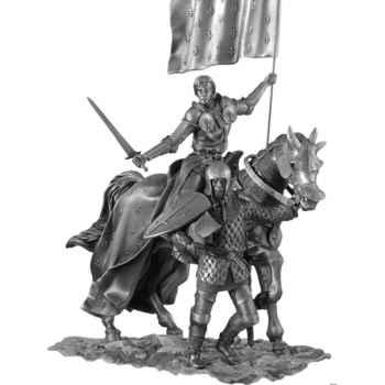 Figurines étains Jeanne a cheval -MA079