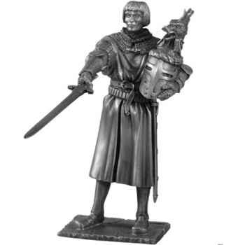 Figurines étains Chevalier de la table ronde Lancelot et siege -TR003
