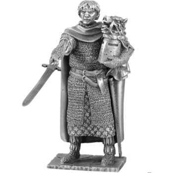 Figurines étains Chevalier de la table ronde galaad et siege -TR004