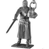 figurines etains chevalier de la table ronde sagremor et siege tr005
