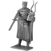 figurines etains chevalier de la table ronde bedwere et siege tr007