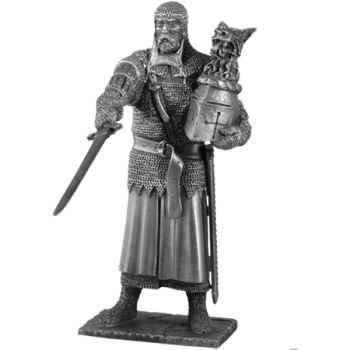 Figurines étains Chevalier de la table ronde Perceval et siege -TR008