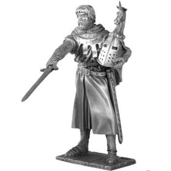 Figurines étains Chevalier de la table ronde Hector et siege -TR009