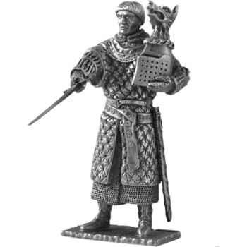 Figurines étains Chevalier de la table ronde Bohors et siege -TR011