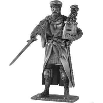 Figurines étains Chevalier de la table ronde Gauvain et siege -TR012