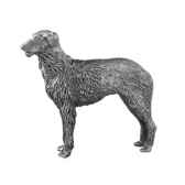 figurines etains chiens deerhound assis et debout ad010