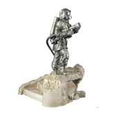 figurines etains sapeur pompier volontaire avec lance france fw005