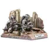 figurines etains sapeur pompier volontaire en binome france fw018
