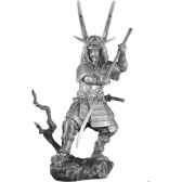 figurines etains samourai avec naginata sa005